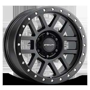 Aluminum Stealth (Series 772BL) 17x8.5 - Simulated Beadlock 6 Matte Black