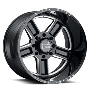 Canon 8 Gloss Black w/ Milled Spokes