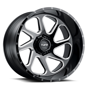 T2B True Directional 8 Gloss Black with Milled Spoke