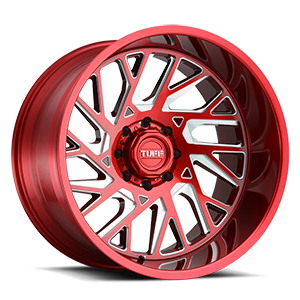 T4B True Directional 8 Machined Candy Red w/ Milled Spoke