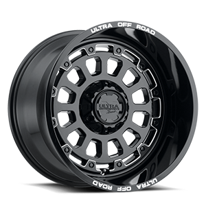 111 Xtreme 5 Gloss Black with Milled Accents, Milled Letters and Clear-Coat - 20x12