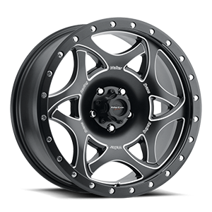 501 Legend II 5 Satin Black with Milled Accents and Satin Black X-lok Lip Satin Clear-Coat