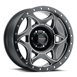 501 Legend II 6 Satin Black with Milled Accents and Satin Black X-lok Lip Satin Clear-Coat