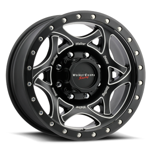 501 Legend II 8 Satin Black with Milled Accents and Satin Black X-lok Lip Satin Clear-Coat