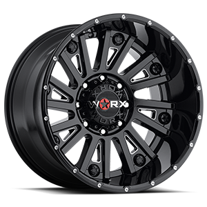 810 Sentry 8 Gloss Black with Milling and Clear Coat - 20x12