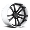 Concourse Matte Black with White Lip 5 lug