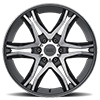 6 LUG AR893 MAINLINE GLOSS BLACK MACHINED