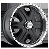 AR321 Fuel Gloss Black w/ Machined Lip 5 lug