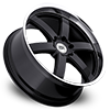 6 LUG PONDORA BLACK W/ MACHINED