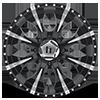 8 LUG HE791 MAXX GLOSS BLACK MILLED