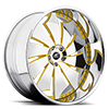 Delo Yellow and Chrome with Chrome Lip 5 lug