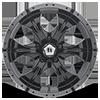 5 LUG HE791 MAXX GLOSS BLACK MACHINED