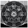 8 LUG HE791 MAXX GLOSS BLACK MACHINED