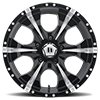 5 LUG HE791 MAXX GLOSS BLACK MILLED