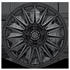 5 LUG MR119 RALLY CROSS S SATIN BLACK W/ CLEAR COAT