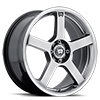 4 LUG MR116 DARK SILVER W/ MACHINED FLANGE