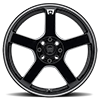 4 LUG MR116 GLOSS BLACK W/ MACHINED FLANGE