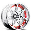 6 LUG MO961 CHROME WITH RED INSERTS