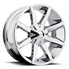 KM651 Slide Chrome 5 lug