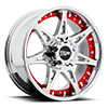 5 LUG MO961 CHROME WITH RED INSERTS