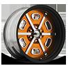 VF494 Orange with Black Lip 6 lug