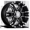 201-202 Baron Gloss Black with Diamond Cut Accents 8 lug