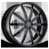 VSO Black With White Inserts 6 lug