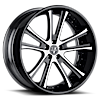 VKE concave White and Black 6 lug