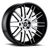 VKK concave Black with Brushed Face 5 lug