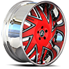 5 LUG FORZIANO RED AND SATIN WITH CHROME LIP