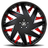 5 LUG FORZIANO BLACK, SILVER AND RED WITH BLACK LIP