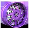 Forziano Purple and Black with Purple Lip 5 lug