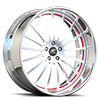 Intenza Satin and Red with Chrome Lip 5 lug
