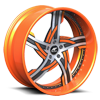 5 LUG VICTORINO SATIN AND ORANGE WITH ORANGE LIP