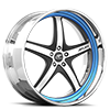 Vivalo Black and Blue with Chrome Lip 5 lug