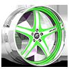 5 LUG VIVALO GREEN WITH CHROME LIP