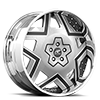 Castillo Silver, Black and White with Chrome Lip Cut B 5 lug