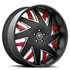 5 LUG FORZIANO BLACK, SATIN AND RED WITH BLACK LIP