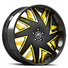 5 LUG FORZIANO BLACK AND YELLOW WITH CARBON LIP