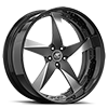 5 LUG MILANI 5 BLACK AND SATIN WITH BLACK LIP