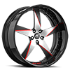 5 LUG MILANI 5 SATIN, RED AND BLACK WITH BLACK LIP