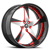 5 LUG MILANI 5 SATIN, RED AND BLACK WITH CARBON LIP