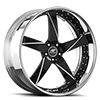 5 LUG MILANI 5 BLACK WITH CHROME LIP