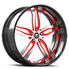5 LUG PRIMO SATIN AND RED WITH CARBON LIP