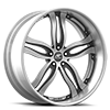 5 LUG PRIMO SILVER AND BLACK WITH SILVER LIP
