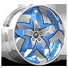Talenzo Silver and Blue with Chrome Lip 5 lug