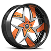 Talenzo Orange and Silver with Carbon Lip 5 lug