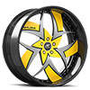5 LUG TALENZO YELLOW AND SILVER WITH CARBON LIP