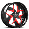 Talenzo Black and Red with Black Lip 5 lug