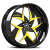 Talenzo Black and Yellow with Black Lip 5 lug